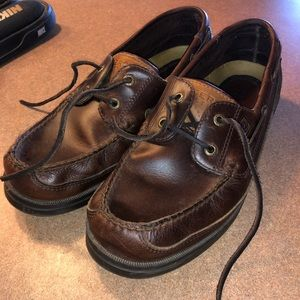 Dark brown Sperry boat shoes